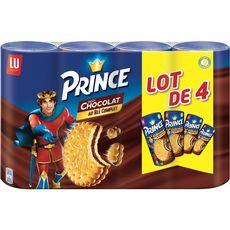 PRINCE Biscuits fourrés au chocolat 4x300g