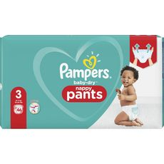 PAMPERS Baby-dry pants couches-culottes taille 3 (6-11kg) 46 couches