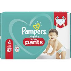 PAMPERS Baby-dry pants couches-culottes taille 4 (9-15kg) 41 couches