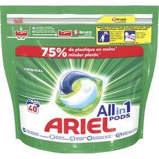 ARIEL Pods Lessive capsules écodoses tout en 1 40 lavages 40 capsules