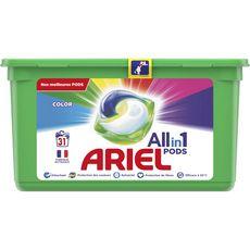 Ariel ARIEL Ariel Pods lessive capsules tout en 1 couleurs 31 lavages