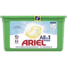 ARIEL Lessive en capsules peaux sensibles 31 lavages 31 capsules