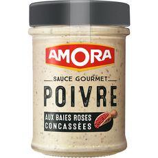 Amora AMORA Sauce gourmet poivre aux baies roses concassées