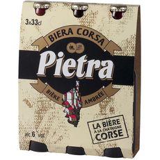PIETRA Bière ambrée corse à la châtaigne 6% bouteilles 3x33cl
