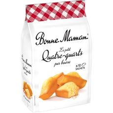 BONNE MAMAN Petits quatre-quarts pur beurre, sachets individuels 10 gâteaux 300g