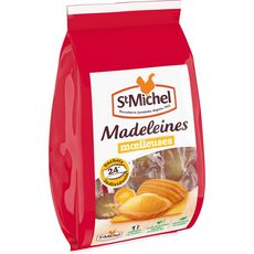 ST MICHEL Madeleines moelleuses, sachets individuels 24 madeleines 600g