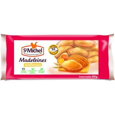 ST MICHEL Madeleines moelleuses nature, sachets individuels 32 madeleines 800g