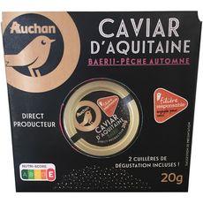 AUCHAN LE TRAITEUR Caviar d'Aquitaine baerii pêche automne 20g
