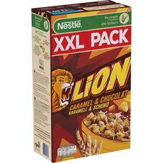 LION Céréales aromatisées au caramel et chocolat 1,05kg