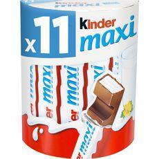 KINDER Maxi barres chocolatées 11 barres 231g