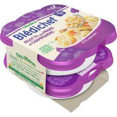 Blédina BLEDINA Blédichef assiette risotto panais et champignons dès 12 mois