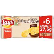 LAY'S Chips à l'ancienne nature - sachets individuels lot de 6 6x27,5g