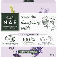 N.A.E Shampooing solide bio et vegan pour cheveux normaux 30 à 50 lavages 85g
