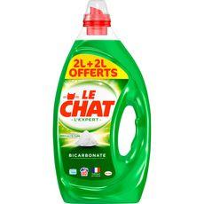 LE CHAT Lessive liquide au bicarbonate 80 lavages 2l+2l offert