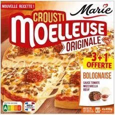 MARIE Pizza Croustimoelleuse Originale bolognaise 3+1 offerte