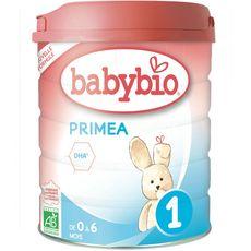 BABYBIO Primea 1 lait 1er âge en poudre dès la naissance 800g