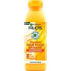 FRUCTIS Hair Food Shampooing vegan à la banane pour cheveux secs 350ml