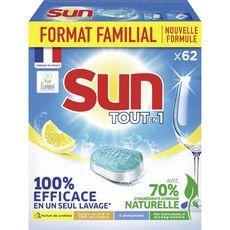 Sun Tout en 1 Tablette lave-vaisselle Citron 62 lavages 1085g