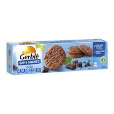 GERBLE Cookies cacao pépites sans sucres sachets 4x32,5g 130g