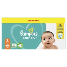 PAMPERS Baby-dry Couches taille 3 (6-10kg) x104 104 couches