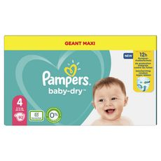 PAMPERS Baby-dry Couches taille 4 (9-14kg) 12h de protection 92 couches