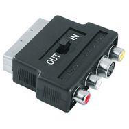 HAMA Adaptateur vidéo - Prise S-VHS/3 prises Cinch-connect - Péritel - 4 broches