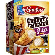 LE GAULOIS Crousty chicken sticks morceaux de poulet 2-3 portions 320g
