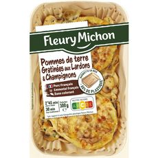 FLEURY MICHON Fleury Michon Pommes de terre gratinées aux lardons champignons 300g 1 portion 300g