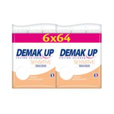 DEMAK'UP Sensitives Cotons disques à démaquiller 6x64 cotons