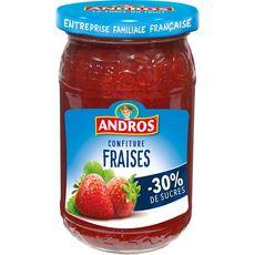 ANDROS Confiture fraises allégée en sucres 350g