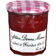 BONNE MAMAN Confiture de fraises et fraises des bois 370g