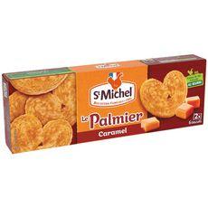 ST MICHEL Palmiers au caramel biscuits feuilletés et croustillants, sachets fraîcheur 2x6 biscuits 100g