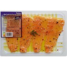 AUCHAN LE POISSONNIER Carpaccio de saumon mariné 2 personnes 170g