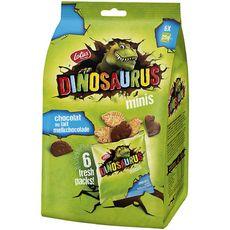 DINOSAURUS Mini biscuits nappés de chocolat au lait 6x25g