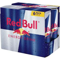 RED BULL Boisson énergisante à la taurine boîtes 6x25cl