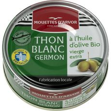 LES MOUETTES D'ARVOR Thon blanc à l'huile d'olive vierge extra bio, produit en Bretagne 80g