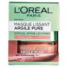 L'OREAL Masque lissant aux 3 argiles pures + algue rouge 50ml