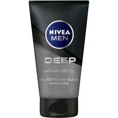 NIVEA MEN Gel nettoyant visage anti-impuretés au charbon noir 100ml
