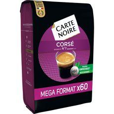 CARTE NOIRE Dosettes de café corsé compatibles Senseo, extra format 60 dosettes 420g