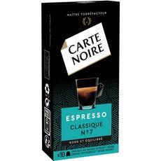 CARTE NOIRE Capsules de café espresso classique compatibles Nespresso 10 capsules 53g