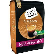 CARTE NOIRE Dosettes de café classique compatibles Senseo, Mega format 60 dosettes 420g