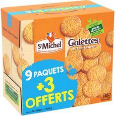 ST MICHEL St Michel Galettes au beurre 9x130g +3 offerts