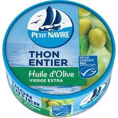 PETIT NAVIRE Thon entier à l'huile d'olive vierge extra 160g
