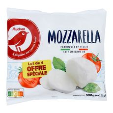 AUCHAN Mozzarella 4x125g