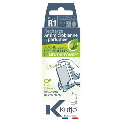 KUTJO Recharge pour spray Kutjo K1 nettoyant smartphones et tablettes - Huiles essentielles Menthe poivrée