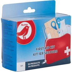 AUCHAN Trousse kit de 1er secours 54 produits 54 produits