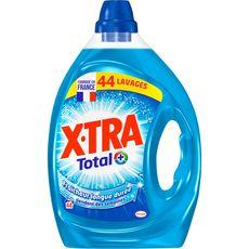 X-TRA Total + Lessive liquide fraicheur longue durée  44 lavages 2.2l