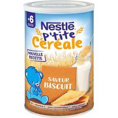 NESTLE Nestlé P'tite céréale en poudre biscuité dès 6 mois 400g 400g