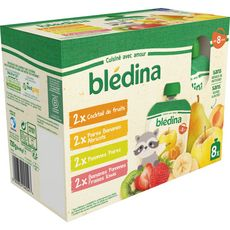 Blédina BLEDINA Gourdes dessert purée de fruits dès 8 mois