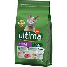 ULTIMA Croquettes au bœuf pour chat stérilisé 1,5kg